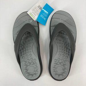Crocs Reviva Flip Flop Sandals Light Gray M10 W12